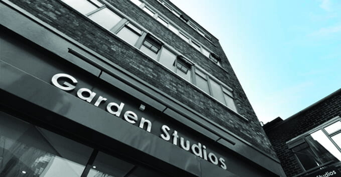 Exterior view of Garden Studios, the modern brick Covent Garden building in which Quality Formations is based.